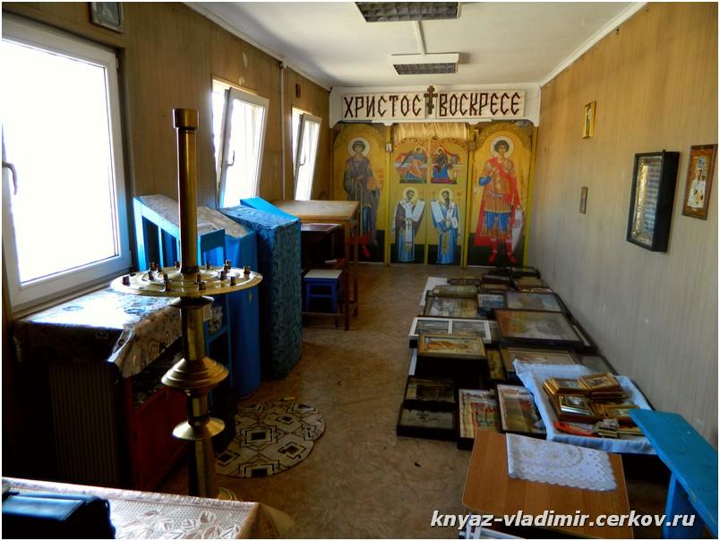 Внутри храма всё подготовлено к демонтажу храма