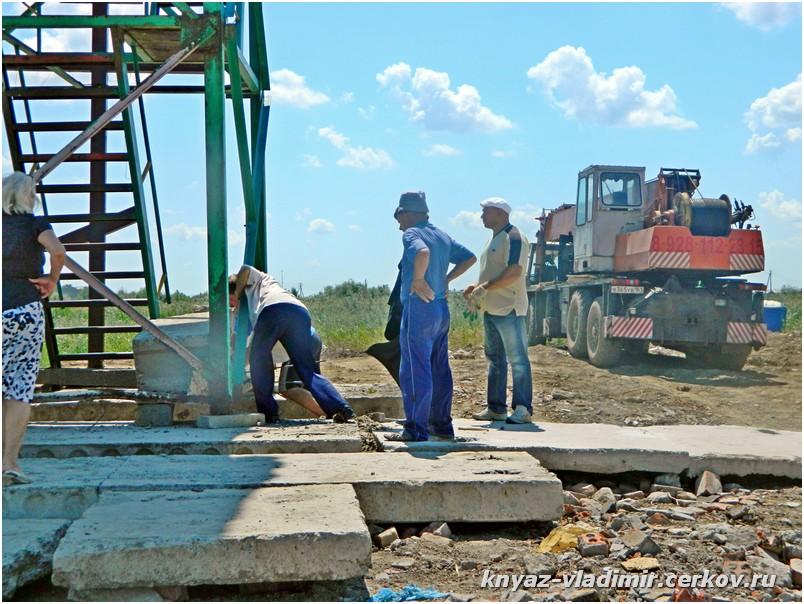 Подготовка опоры для храма